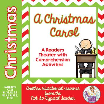Christmas Carol Reader's Theater Script & Activities RL3.1