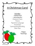 Christmas Carol - Short Passage with Language Activities