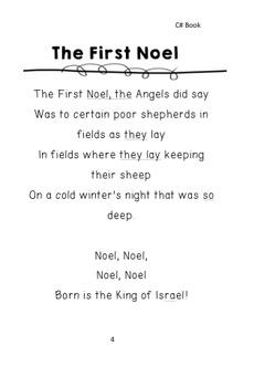 Christmas Carol Sing A Long Books for Handbells, Chimes, Boomwhackers