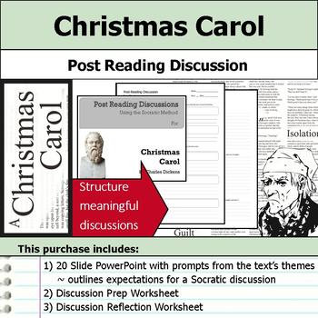 Christmas Carol - Socratic Method - Post Reading Discussions