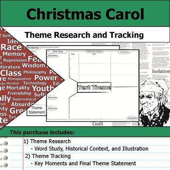 Christmas Carol - Theme Tracking Notes -  Etymology & Context Research