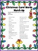 Christmas Carols - Word Match
