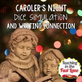 Christmas Writing Activity Carolers' Calling Dice Simulation