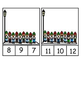 Christmas Carolers Counting to 10