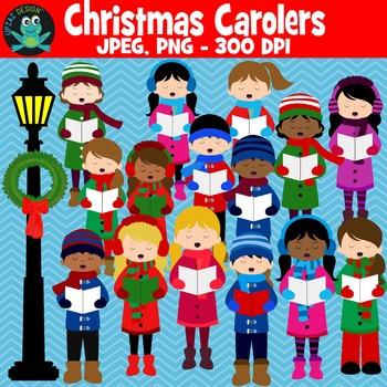 Christmas Carolers {Upzaz Digital Clipart}