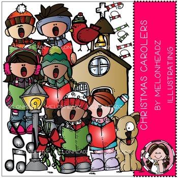 Melonheadz: Christmas Carolers clip art - COMBO PACK