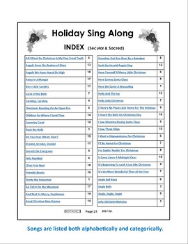 Christmas Caroling Song Sheets
