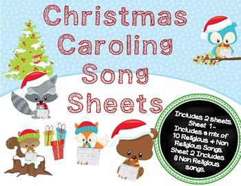 Christmas Caroling Images.Christmas Caroling Song Sheets