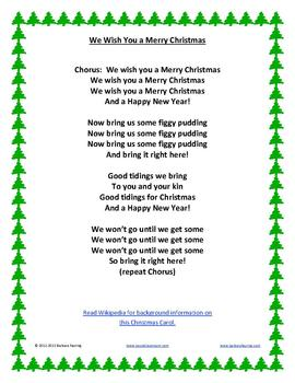 I Wish You A Merry Christmas Lyrics.11 Christmas Carols With Traditional Lyrics And Music