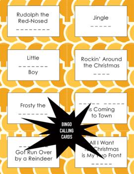 Christmas Carols Bingo