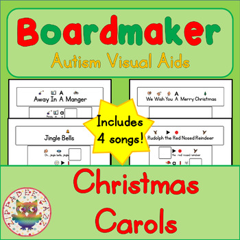 Christmas Carols Boards and Cards - Boardmaker / Autism /