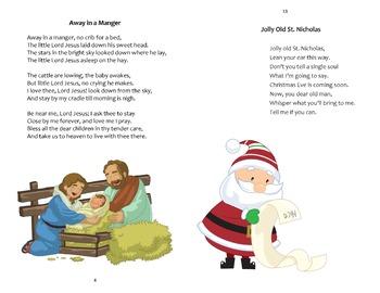 picture regarding Printable Christmas Carols Booklet named Xmas Carols Booklet