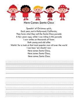 Christmas Carols Copywork Book to Reinforce Handwriting