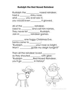 Christmas Carols Fluency Freebie