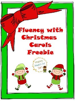 Christmas Carols Fluency Freebie