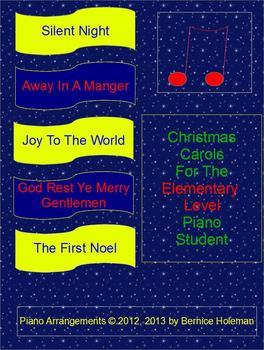 Christmas Carols For The Elementary Level Piano Student Bundle
