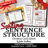 Christmas Activities Writing & Grammar Game, Sentence Structure in Carol Lyrics