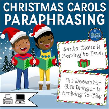 Christmas Carols Matching Activity