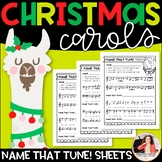 Christmas Carols Name That Tune! {Llama Music Worksheets}