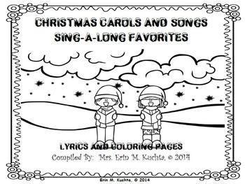 Christmas Carols/Songs Sing-a-Long/Coloring/Lyrics Pages (
