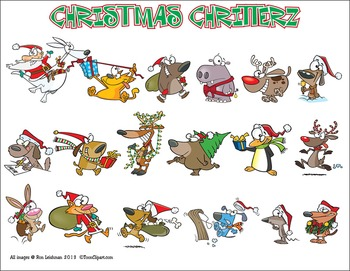 Christmas Cartoon Clipart BUNDLE