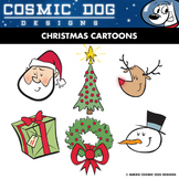 Christmas Cartoons Clip Art Set