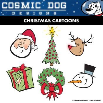 Christmas Cartoons Clip Art Set