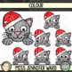 Christmas Cat Page Toppers Clipart