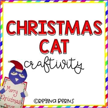 Christmas Cat Writing & Art Activity
