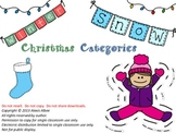 Christmas Categories - Common Core Aligned!