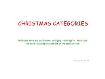 Christmas Categories - Smart Board Lesson