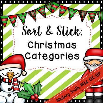 Sort and Stick: Christmas Categories