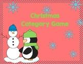 Christmas Category Game