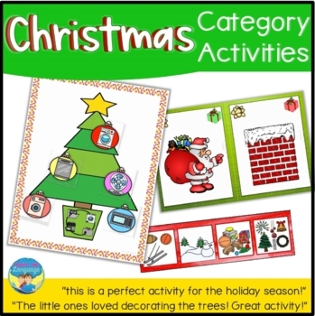 Christmas Category Game- Language Arts, Special Ed, Speech