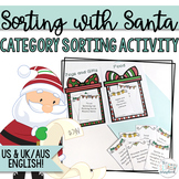 Christmas Category Sorting Game - Sorting with Santa- Low Prep!