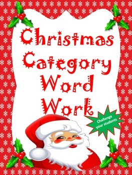 Christmas Category Word Work