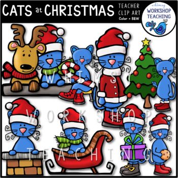 Christmas Cats Clip Art