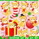 Christmas Cats Clipart Set