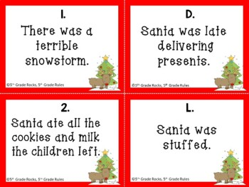 Christmas Cause and Effect Task Cards