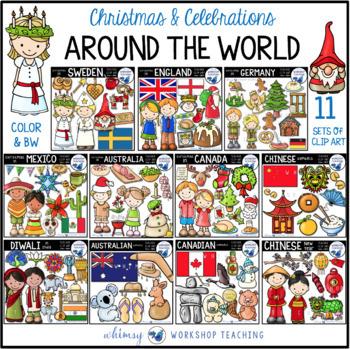 Christmas / Celebrations Around the World Clip Art BUNDLE