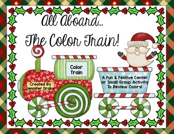 Christmas Center- 'All Aboard the Color Train'- FREEBIE!