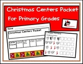 Christmas Center Packet for First and Second Grade
