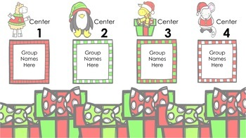 Christmas Center Rotations Automatic PowerPoint