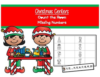 Christmas Centers - Count the room - Missing numbers