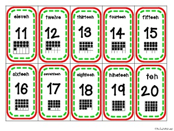 Christmas Centers: Counting with Ten Frames-Numbers 1-30-B&W set included