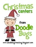 Christmas Centers: Math & Literacy Kindergarten First Second Grade