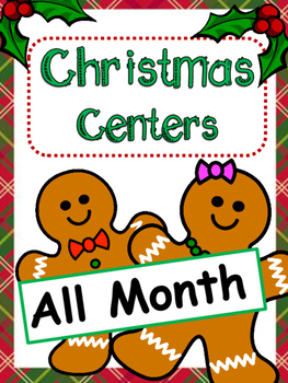 Christmas Centers: Math and Writing For All of December