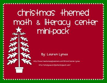 Christmas Centers Mini-Pack {2 Literacy & 2 Math Centers}