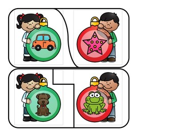 Christmas Centers - Rhyming - Rhyme Match Puzzles