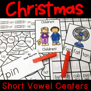 Christmas Centers Short Vowel Words